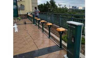 景观立柱机(立柱式电动车充电站)1带10充电桩